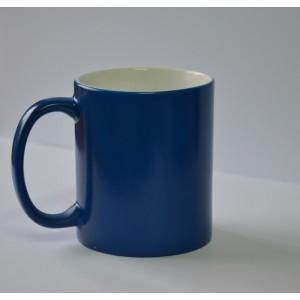 Niebieski Kubek zmieniający kolor pod wpływem ciepła