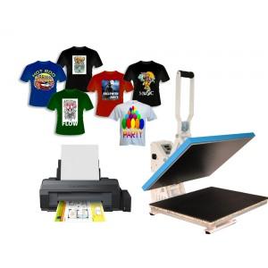 Super Drukowanie na koszulkach z drukarką A3 Epson L1300, zestaw do CU12