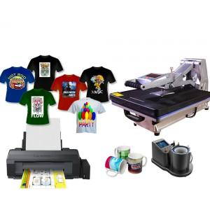 Nadruk na materiałach płaskich, koszulkach i kubkach z drukarką A3 Epson L1300, zestaw do sublimacji