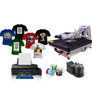 Nadruk na materiałach płaskich, koszulkach i kubkach z drukarką A3 Epson L1800, zestaw do sublimacji