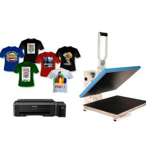 Nadruki na płaskich i koszulkach z drukarką Epson L310 A4, zestaw do sublimacji