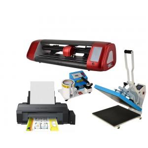 Profesjonalny zestaw do sublimacji A3 dla firm z ploterem SkyCut, z prasą do kubków MP4105 i z drukarką Epson L1300