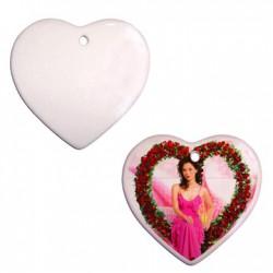Ceramiczna płytka serce 10cm