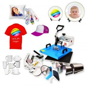 Prasa transferowa Heat Press 8w1 38x38cm MAX BIG COMBO do koszulek, hot mug, do czapek, do talerzy