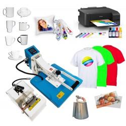 Zestawy do nadruków na płaskich oraz ceramice typu kubki z drukarką